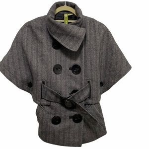 Soia and Kyo Wool Blend Cape Coat Size XS